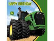 John Deere Tractor - Happy Birthday Lunch Napkins - Paper