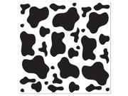 Cow Print Bandana - Black & White