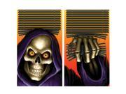 Grim Reaper Double Window Halloween Sticker