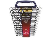 12 Piece Metric Flex Head Combination Ratcheting Wrench
