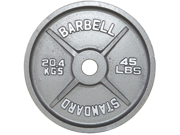 USA Sports 100lb Gray Olympic Plate