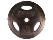Troy Machined Interlocking Rubber Encased 45lb Grip Plate