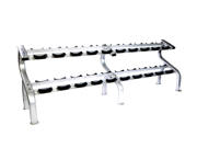 Troy Barbell Commercial 10 Pair Dumbbell Saddle Rack