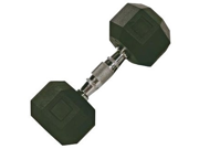 VTX 100lb Individual Rubber Encased Octagonal dumbbell