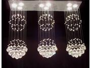 "Modern Chandelier Triple ""Rain Drop"" Chandeliers Lighting H31"" X W39"" X L10"""