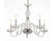 "MURANO VENETIAN STYLE CRYSTAL CHANDELIER LIGHTING! H 25"" W 24"""