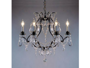 """Wrought Iron Crystal Chandelier Chandeliers H19"""" x W20"""""""