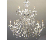 """Authentic All Crystal Chandelier Chandeliers H30"""" X W28"""""""