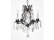 WROUGHT IRON CRYSTAL CHANDELIER CHANDELIERS LIGHTING