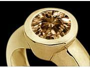 0.50 ct SOLITAIRE Champagne DIAMOND RING YELLOW GOLD