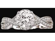 14K solid white gold engagement ring 2.25 carat diamonds ring new