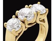 1.5 carat ENGAGEMENT RING 3 STONE DIAMOND ring solid yellow gold 18K