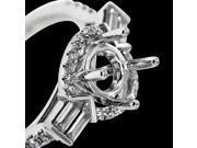 Gorgeous diamonds semi mounting ring white gold 1 carats ring