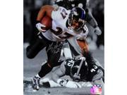 Ray Rice Sepia vs Steelers Signed Vertical 8x10 Photo (Signed In Silver)