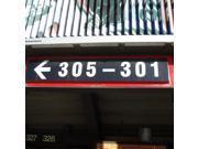 (Left Arrow) 305-301 Directional Sign From  Giants Stadium