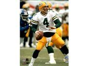 Brett Favre w/ white jersey Packers vs Giants Uns 8X10 (PF)