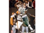 Chris Baker Autographed 8x10 Jumping 1 Handed Catch Versus Cleveland