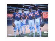 Ojeda/Fernandez/Darling/Gooden Multi Signed 8x10 Photo (MLB Auth)