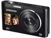 Samsung EC-DV100ZBPBCA DV100 Digital Camera - 16 Megapixels - 5x Optical Zoom/5x Digital Zoom - 2.7-inch Rear Display/1.5-inch Front Display - Black
