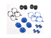 Traxxas 5378X Pivot Ball Caps (4) Dust Boots Rubber (4)