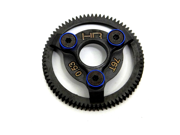 Hot Racing STE876 Hardened Steel Spur Gear (76t 48p)(Blue) - Traxxas