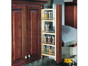 """Rev-A-Shelf 432-WF-3C 432 Series 3"""" Wall Filler Pull Out Organizer with Adjustab"""