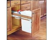 Rev-A-Shelf 4WCTM-12DM1 4WCTM Series 35 Quart Top Mount Wood Pull Out Waste Cont