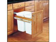 Rev-A-Shelf 4WCTM-18DM2 4WCTM Series Double 35 Quart Top Mount Wood Pull Out Was