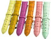 Invicta 18mm Multi Colored Women's Leather Strap Watch Band IN01