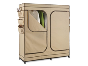 Double Door Storage Closet with Shoe Organizer 60'' Inch Wide