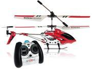 "Syma S107G Mini Metal 8"" RC Helicopter w/ Gyro - Red"