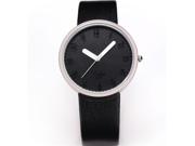 Fashion Women Lady Black Dial Leather Sport Quartz Wrist Watch Gift