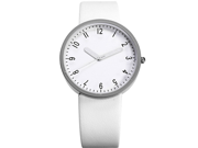 Fashion Women Lady White Dial Leather Sport Quartz Wrist Watch Gift