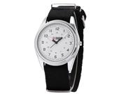 SHARK ARMY White Dial Mens Nylon Military Sport Quartz Wrist Watch