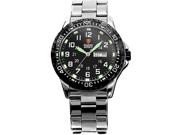 Shark Army Men's Luminous Black Military Sport Quartz Watch