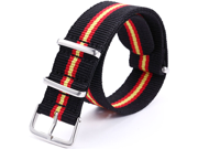 Casual STRIPPED Nylon Sport Watch Band Straps 20mm Watchbands