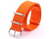 Fashional Orange Nylon Sport Army Watch Band Straps For Men Women 20mm