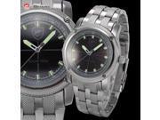 Shark - Solar Shark Series - Men's Analog Sport Japanese Quartz Stainless Steel Band Wrist Watch SH145