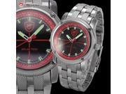 Shark - Solar Shark Series - Men's Analog Sport Japanese Quartz Stainless Steel Band Wrist Watch SH146