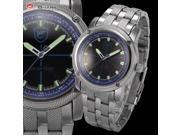 Shark - Solar Shark Series - Men's Analog Sport Japanese Quartz Stainless Steel Band Wrist Watch SH147