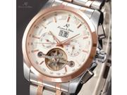 KS Men's Tourbillon Automatic Mechanical Date Day Month Stainless Steel Band Wrist Watch KS191