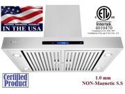 "XtremeAir PX06-I36, 36"" Wide, 900 CFM, Easy Clean swing-able baffle Filters, Stainless Steel, Island Mount Range Hood"