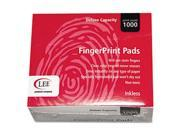 Inkless Fingerprint Pad, 2-1/4 x 1-3/4, Black, Dozen