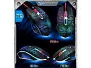 2014 8D 2400DPI Spotlight Leopard T9 6 Buttons Gaming Mouse for MMO WOW RAZER CS FPS LOL CF GAMER