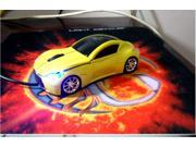 NEW Cool Model 3D Infiniti Car Shape Usb Optical Mouse for Laptop 4 Colors  Gold