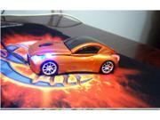 NEW Cool Model 3D Infiniti Car Shape Usb Optical Mouse for Laptop 4 Colors mice Orange