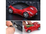 New 3D Ferrari 1200DPI Car Shape Usb Optical Wireless Gaming Cool Mouse