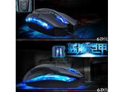 2500DPI 6D Blue Devils Armor 4 Buttons Optical Usb Gaming Grade Mouse for PC Laptop Computer