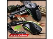 2014 1600DPI RAJOO Cobra Diamondback Optical Usb Pro-Gaming Mouse for PC LAPTOP CS CF RAZER WOW LOL
