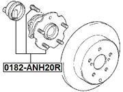 Rear Wheel Hub - Toyota Previa/Tarago Acr50/Gsr50 2006-2012 - OEM: 42450-28030